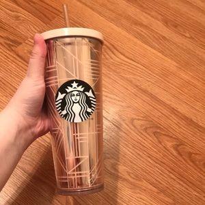 Metallic Pink Starbucks cup